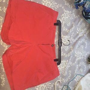 Coral/ Red Short Bermuda Shorts